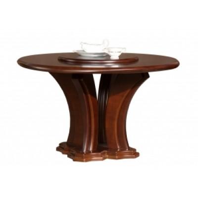 Galds apaļš ar rotējošu galda virsmu