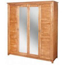 Malaga 4 durvju skapis ar spoguli
